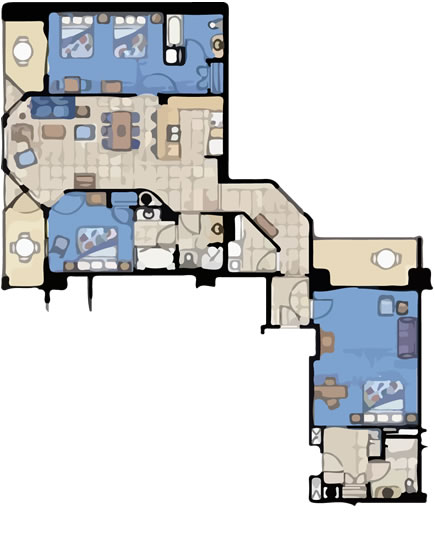 Three Bedroom Villas Arubasurfclubresort Com. Aruba Surf Club 3 Bedroom  Floor Plan ...